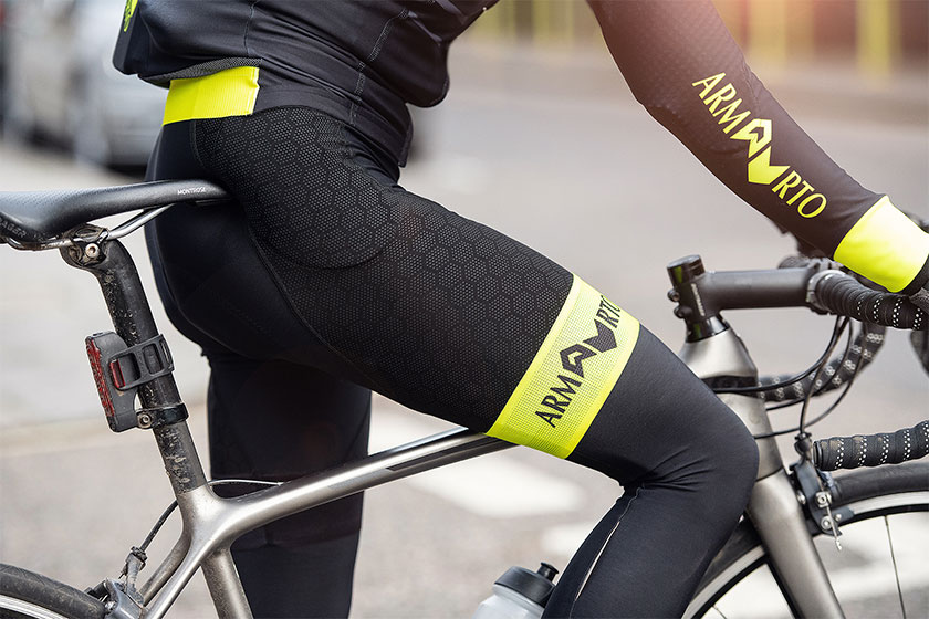 cyclist on bike in new cyclewear